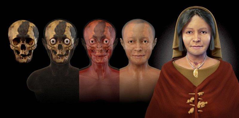 Женщина возрастом 4.500 лет антропологическая реконструкция, восстановление, люди прошлого, наука, черепа