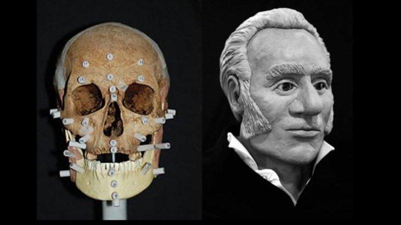 Член команды пропавшей в Арктике Франклинской экспедиции 1845 года антропологическая реконструкция, восстановление, люди прошлого, наука, черепа