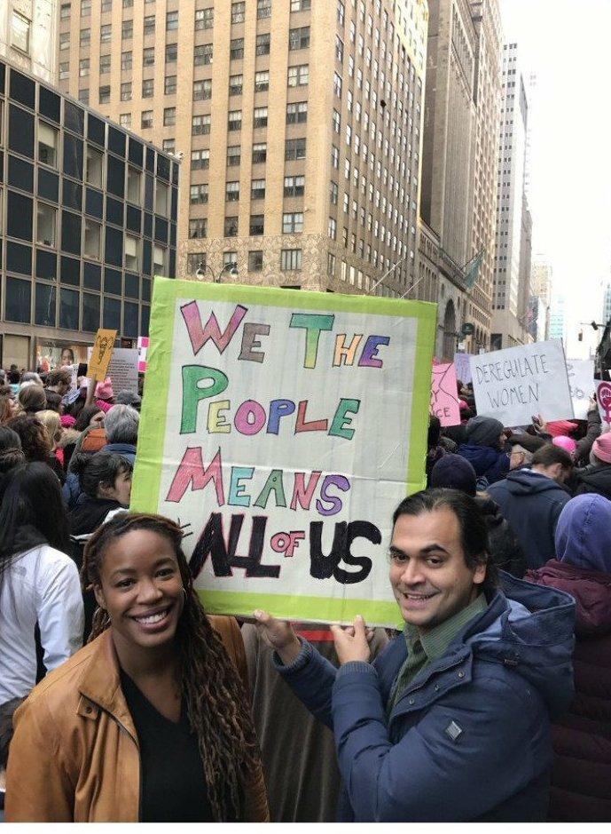 """""""Мы все - люди. Это значит - действительно все!"""" ynews, вашингтон, женский марш, наглядная агитация, новости, нью-йорк, оригинально, сша"""