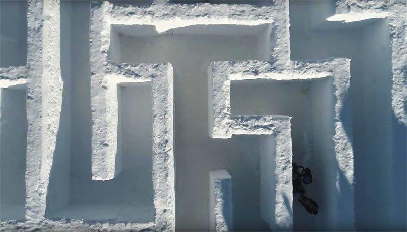 Самый большой снежный лабиринт в мире Польша, Татры, горнолыжный курорт, зимний отдых, лабиринт, самый большой в мире, снежный коридор, туризм