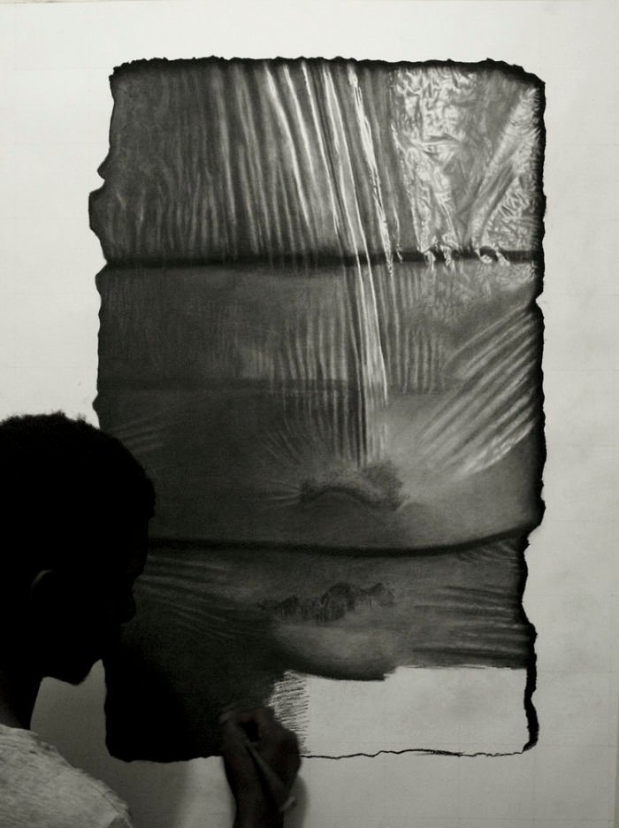 """""""Нейлоновая"""" серия искусство, карандаш, картина, нигерия, портрет, реализм, художник"""