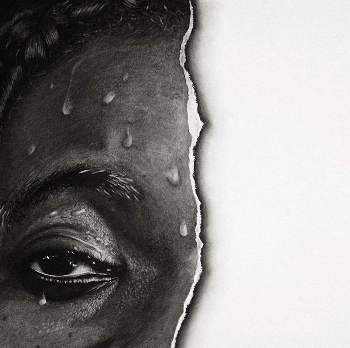 """""""Пусть рвется дольше"""", 2015 искусство, карандаш, картина, нигерия, портрет, реализм, художник"""