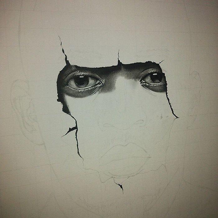"""Председатель"" искусство, карандаш, картина, нигерия, портрет, реализм, художник"