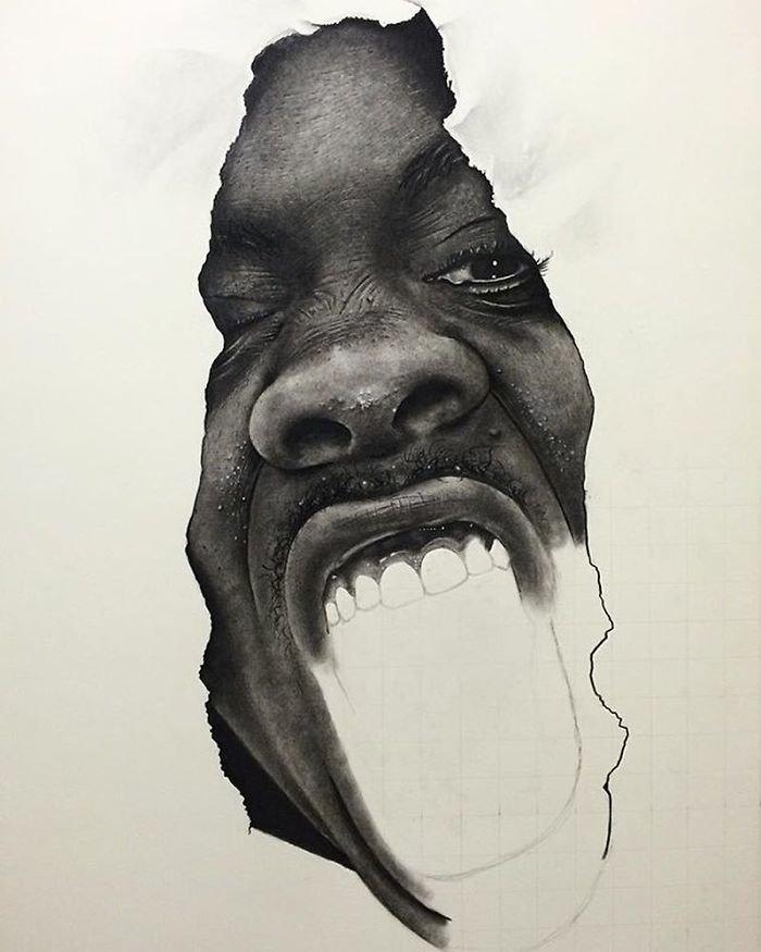 """""""Дать волю 1"""", 2015 искусство, карандаш, картина, нигерия, портрет, реализм, художник"""