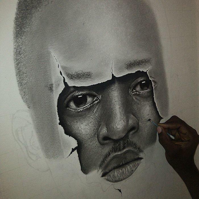 Сложно поверить, но все эти картины написаны обычным карандашом искусство, карандаш, картина, нигерия, портрет, реализм, художник