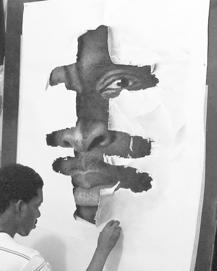 """""""Солдат"""", 2016 искусство, карандаш, картина, нигерия, портрет, реализм, художник"""