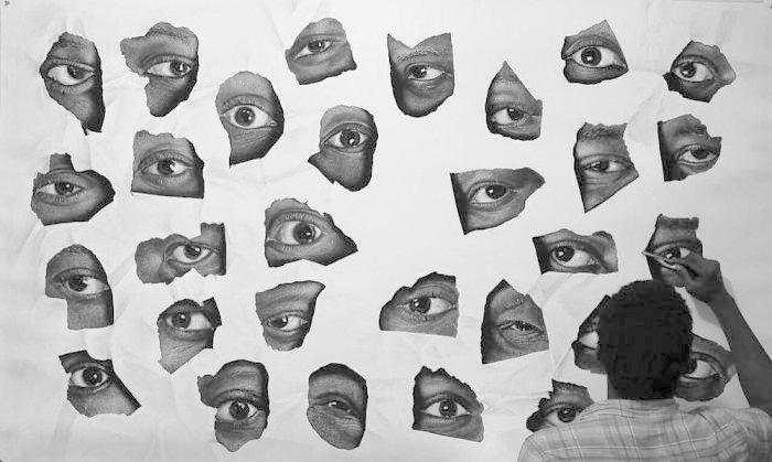 """""""Свидетели"""", 2016 искусство, карандаш, картина, нигерия, портрет, реализм, художник"""