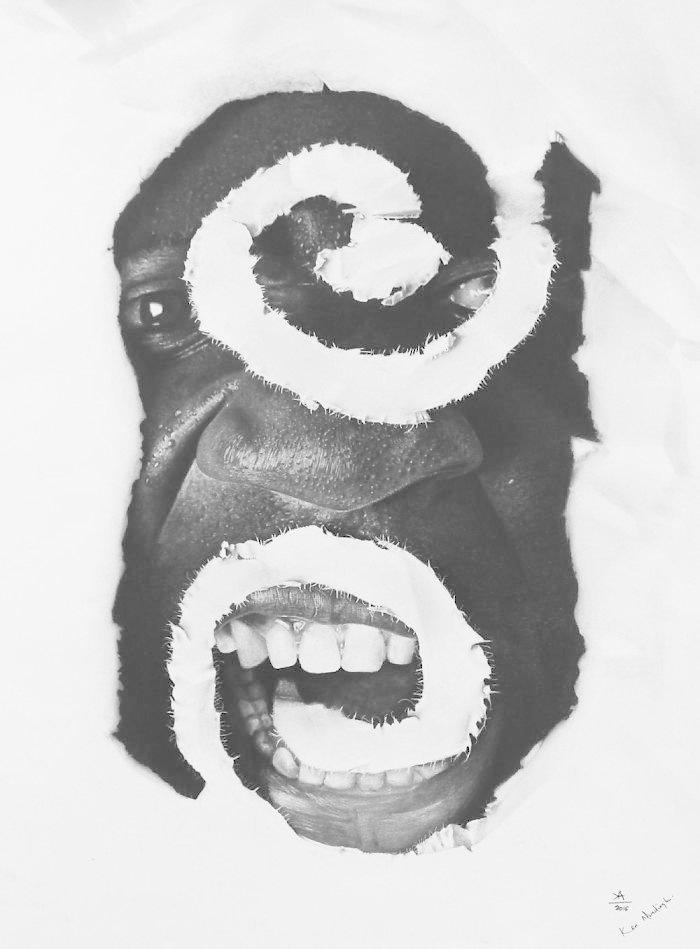 Бату, 2016 искусство, карандаш, картина, нигерия, портрет, реализм, художник