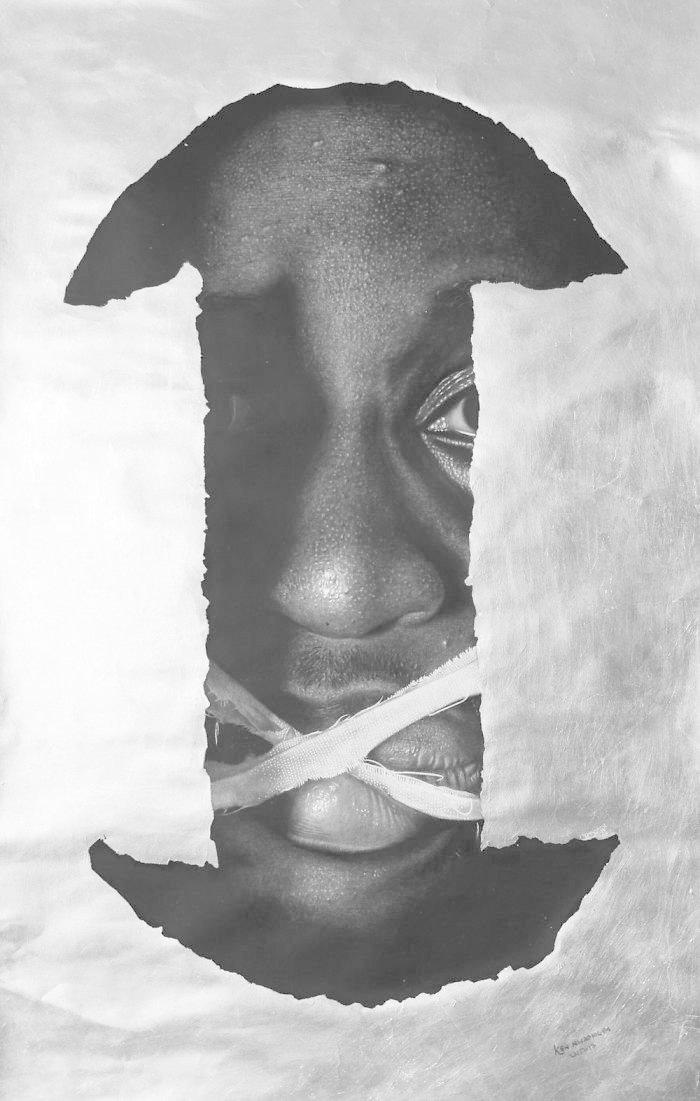 """""""Если я заговорю"""", 2015-2017 искусство, карандаш, картина, нигерия, портрет, реализм, художник"""
