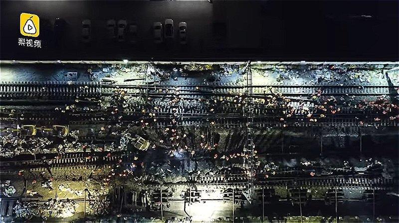 Строительство началось 19 января и закончилось 20 января после полуночи ynews, Эффективность, вот это да!, высокоскоростные поезда, железная дорога, китай, китайские работники, строительство