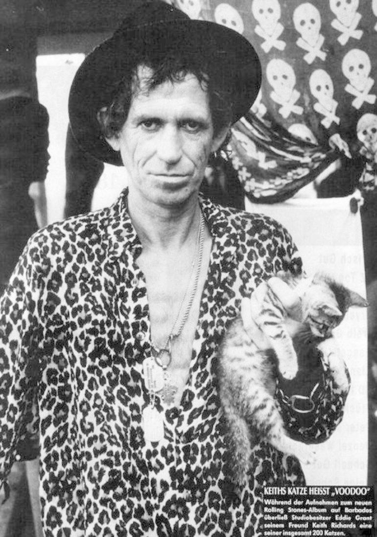Кит Ричардс жизнь, коты, селебрити