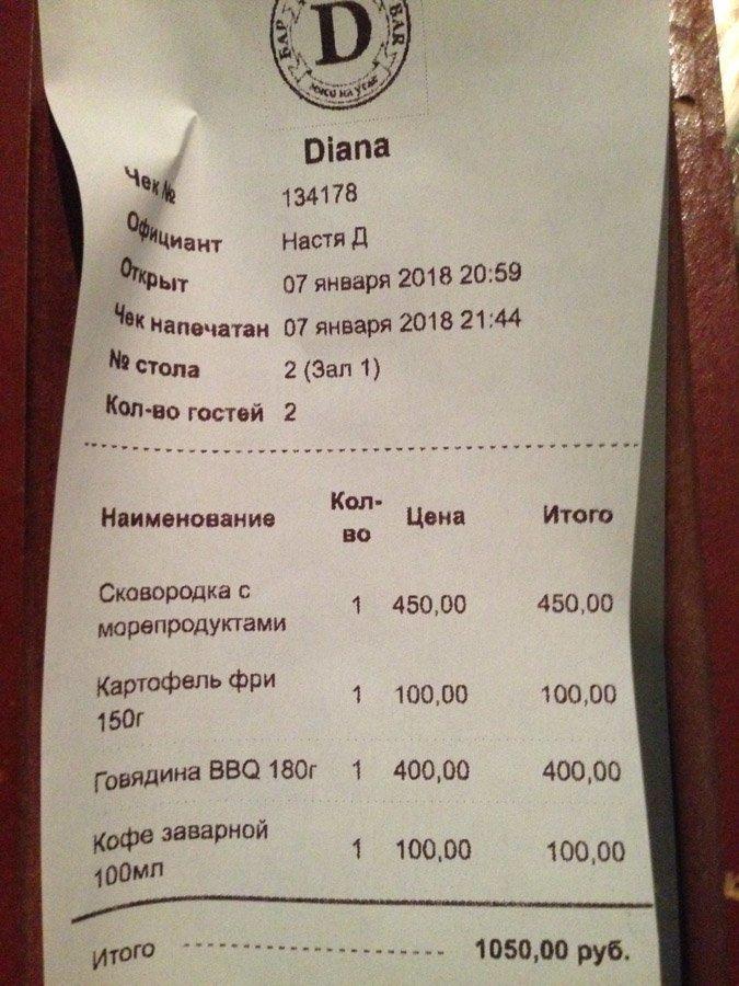 """Ну и цена собственно. Бар """"Диана"""" в Артбухте. крым, отдых, россия"""