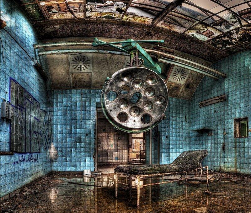 Военный госпиталь Белиц-Хайльштеттен, Германия больницы, жутковато, заброшенные места, фото