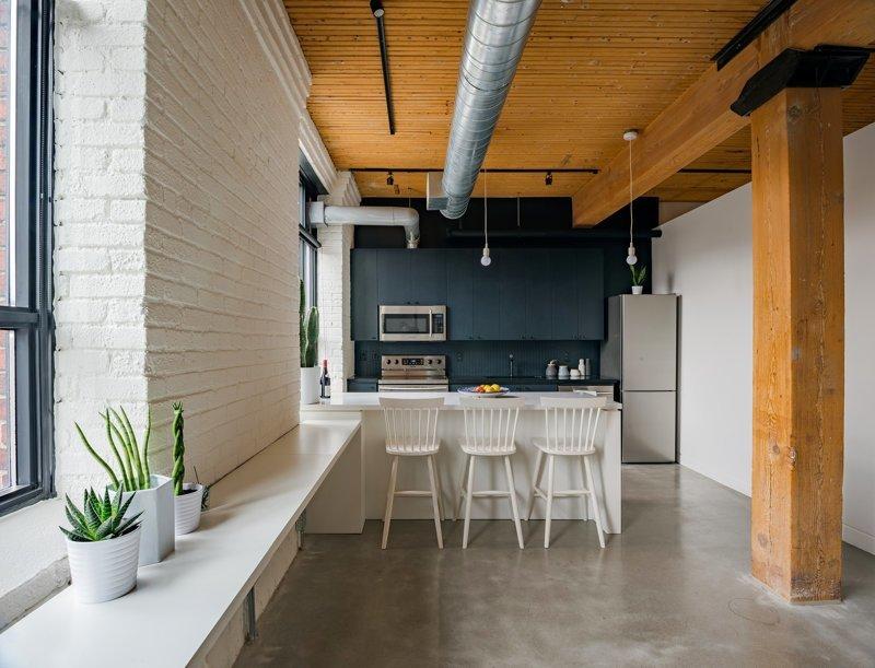 Интерьер в стиле лофт: когда не сразу понятно, был ремонт в квартире или нет дизайн интерьера, интерьер, квартиры, лофт