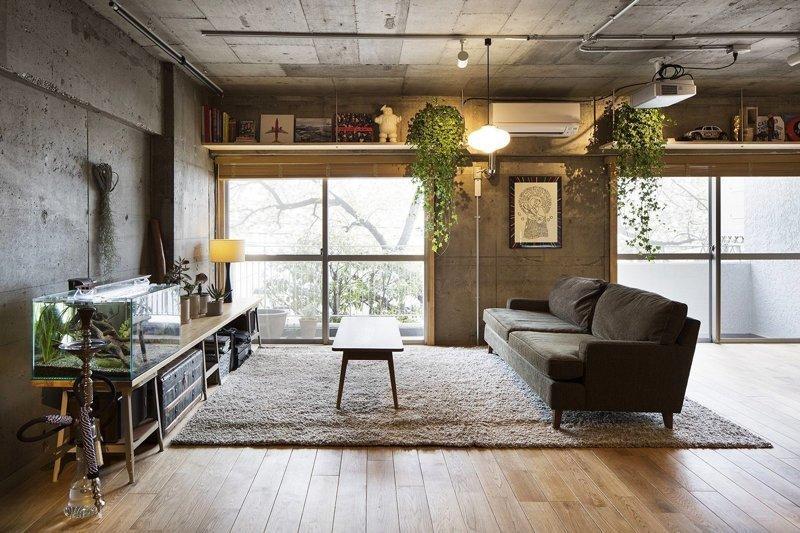 Лофт в Токио дизайн интерьера, интерьер, квартиры, лофт