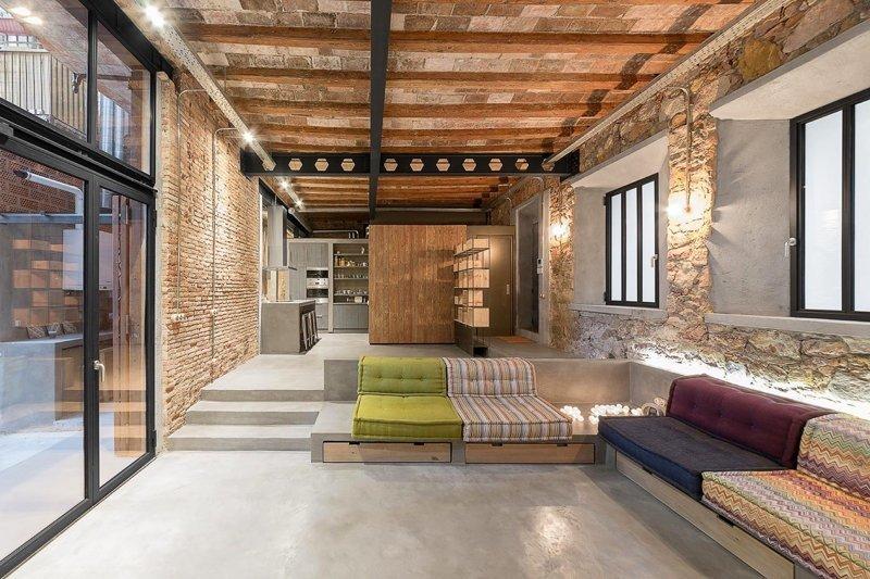 Жилой лофт в здании бывшей столярной мастерской в Барселоне дизайн интерьера, интерьер, квартиры, лофт