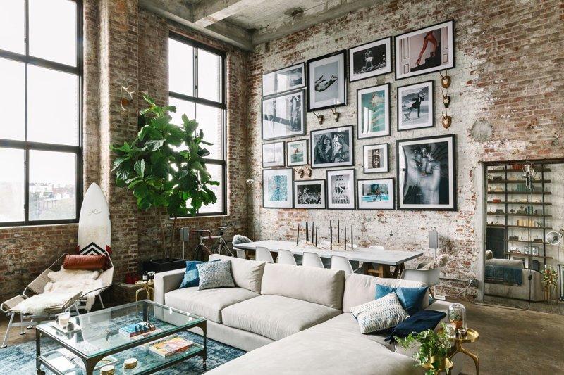 Лофт в Бруклине дизайн интерьера, интерьер, квартиры, лофт