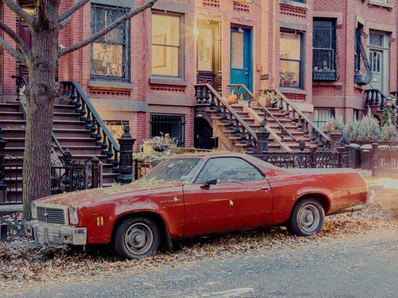 Parked car, 8th Street, Brooklyn припаркованные автомобили, фотографии, френк бобот