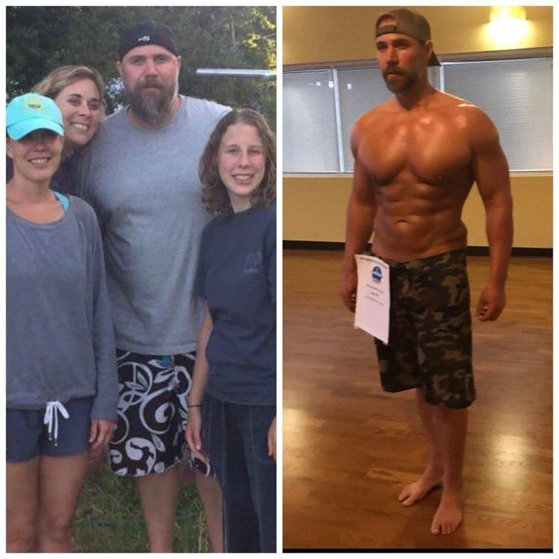 Отец 3-х детей всего за 6 месяцев смог добиться потрясающих результатов, скинув 37 килограммов мышцы, отец, похудение, спорт, тело, фигура