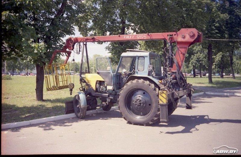 А может ли трактор быть автовышкой? МТЗ, авто, автомобили, беларусы, сельхозтехника, спецтехника, трактор