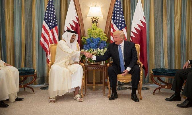 Встреча Тамима и Дональда Трампа в мае 2017 арабские страны, ближний восток, в мире, катар, кризис, политика, факты, фото