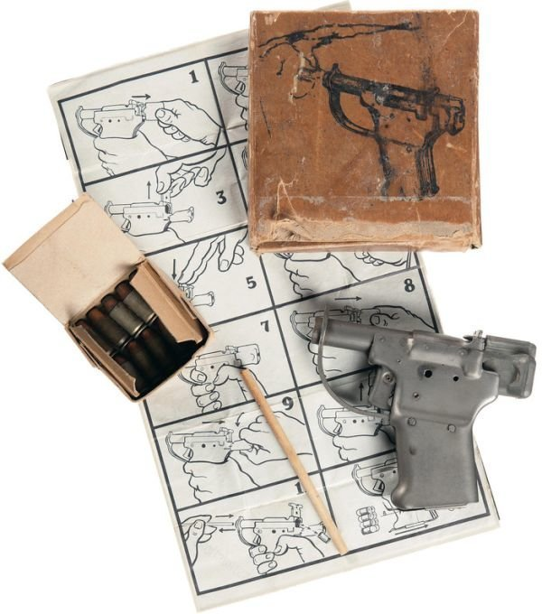 Liberator FP-45 - самый быстрый в изготовлении пистолет в мире Liberator FP-45, оружие, пистолет