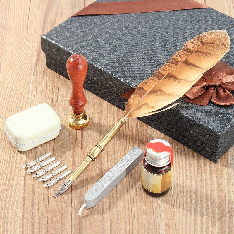 5. Подарочный набор с перьевой ручкой aliexpress, вещи, гаджет, интернет-магазин, мужчины, подарки, покупки