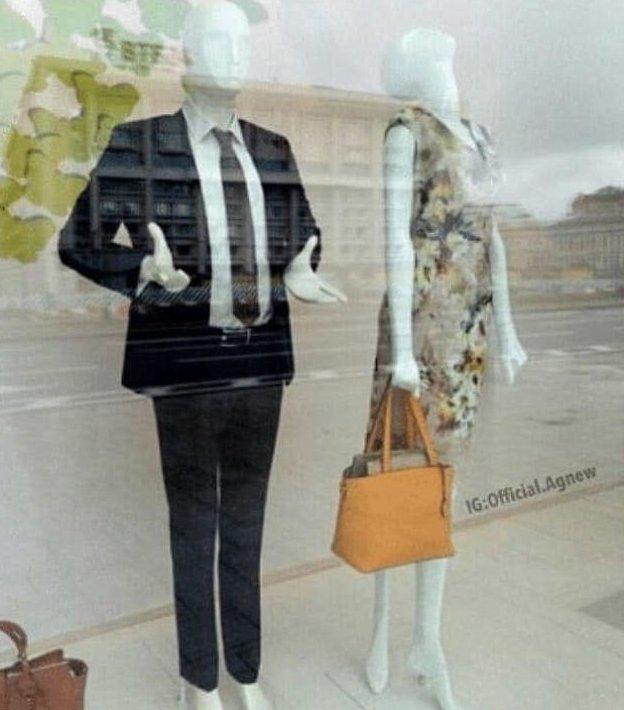 8.  У этой пары разлад идея, магазин, манекен, поза, фото, юмор
