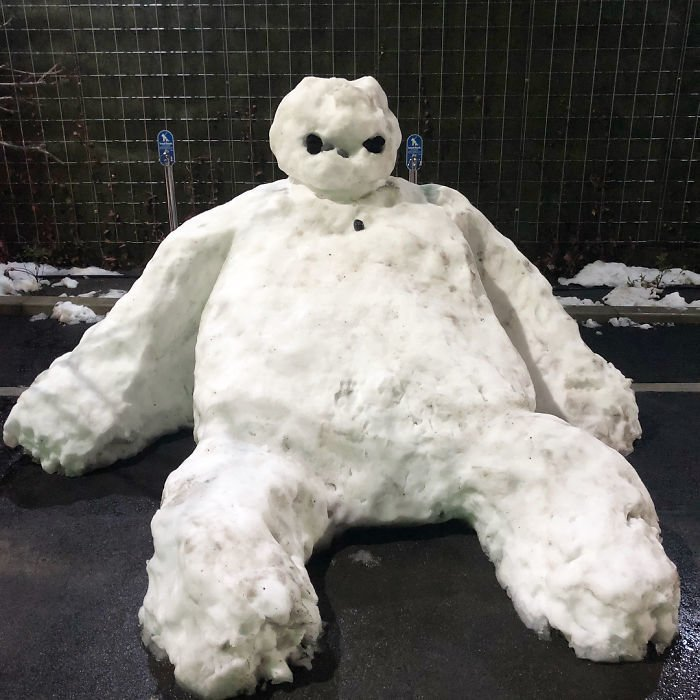 40. снег, снеговик, снеговик - в каждый двор, снеговики, снегопад, снежные, фигуры из снега, япония