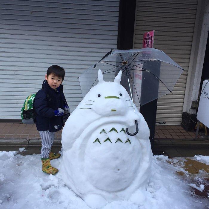 1. снег, снеговик, снеговик - в каждый двор, снеговики, снегопад, снежные, фигуры из снега, япония