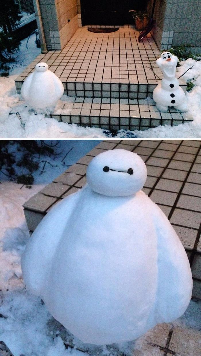5. снег, снеговик, снеговик - в каждый двор, снеговики, снегопад, снежные, фигуры из снега, япония