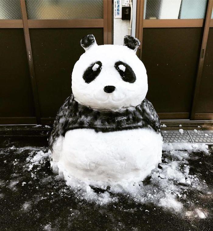 10. снег, снеговик, снеговик - в каждый двор, снеговики, снегопад, снежные, фигуры из снега, япония