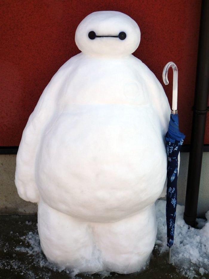 26. снег, снеговик, снеговик - в каждый двор, снеговики, снегопад, снежные, фигуры из снега, япония