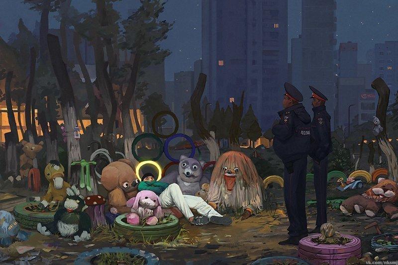 Городские зарисовки, которые вы ещё не видели Городская среда, быт, город, зарисовки, картины, художники, эстетика