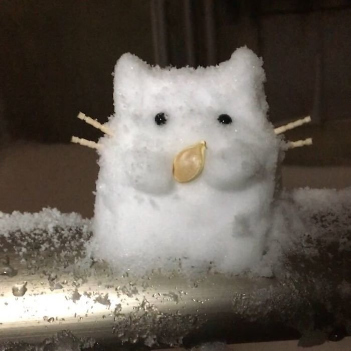 В Токио выпал мощнейший снегопад. Японцы вдохновились - взгляните на их снежные творения! красиво, креатив, подборка, снеговик, снегопад, токио, фото, япония