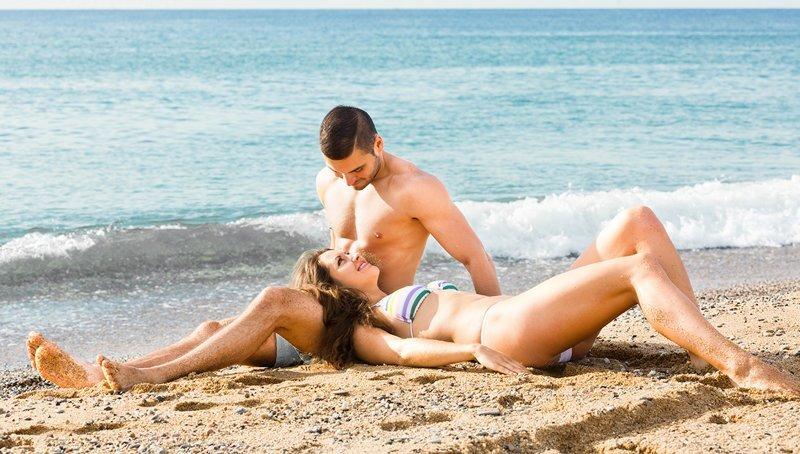 Секс в нутри пляжа