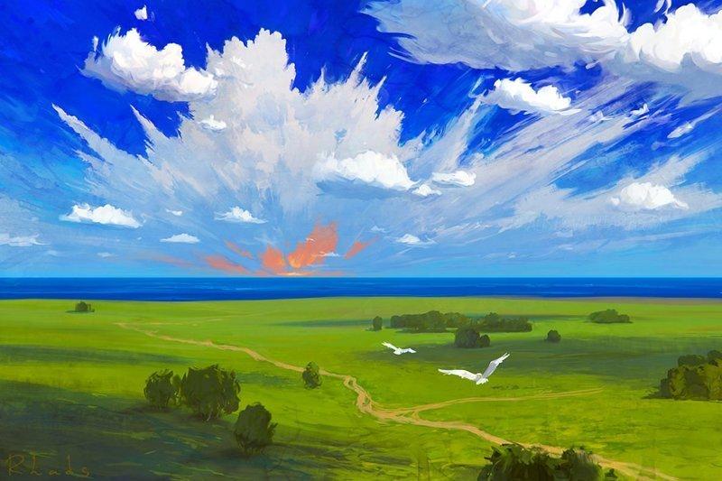 Первая любовь артём чебоха, искусство, картины, цифровая живопись