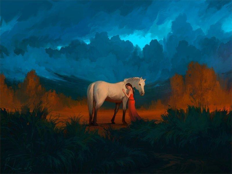 Друг мой артём чебоха, искусство, картины, цифровая живопись