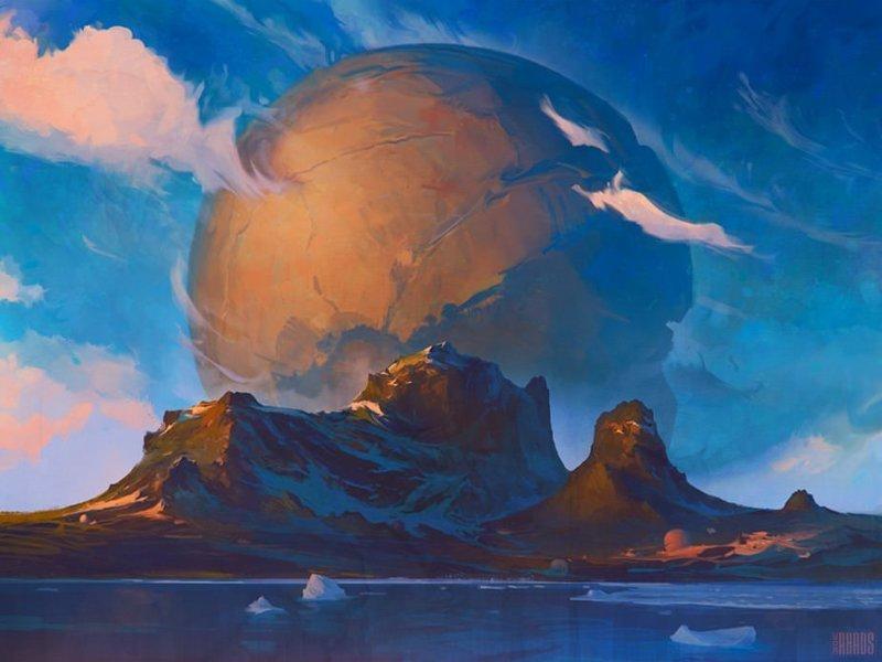 Загадка острова Чамп артём чебоха, искусство, картины, цифровая живопись