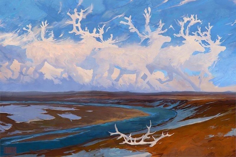 Легенды Севера артём чебоха, искусство, картины, цифровая живопись