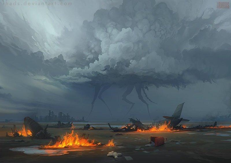 Призрак Войны артём чебоха, искусство, картины, цифровая живопись