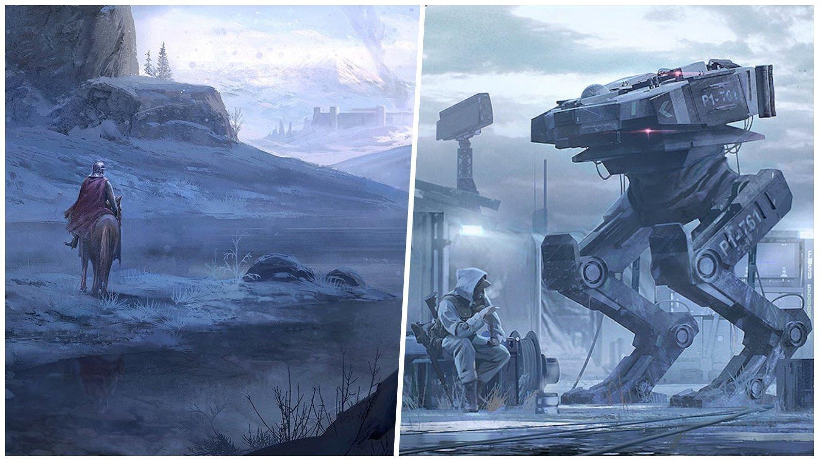 Миры прошлого и будущего в картинах главного художника Ubisoft искусство, картины, рисунки, юхани йокинен
