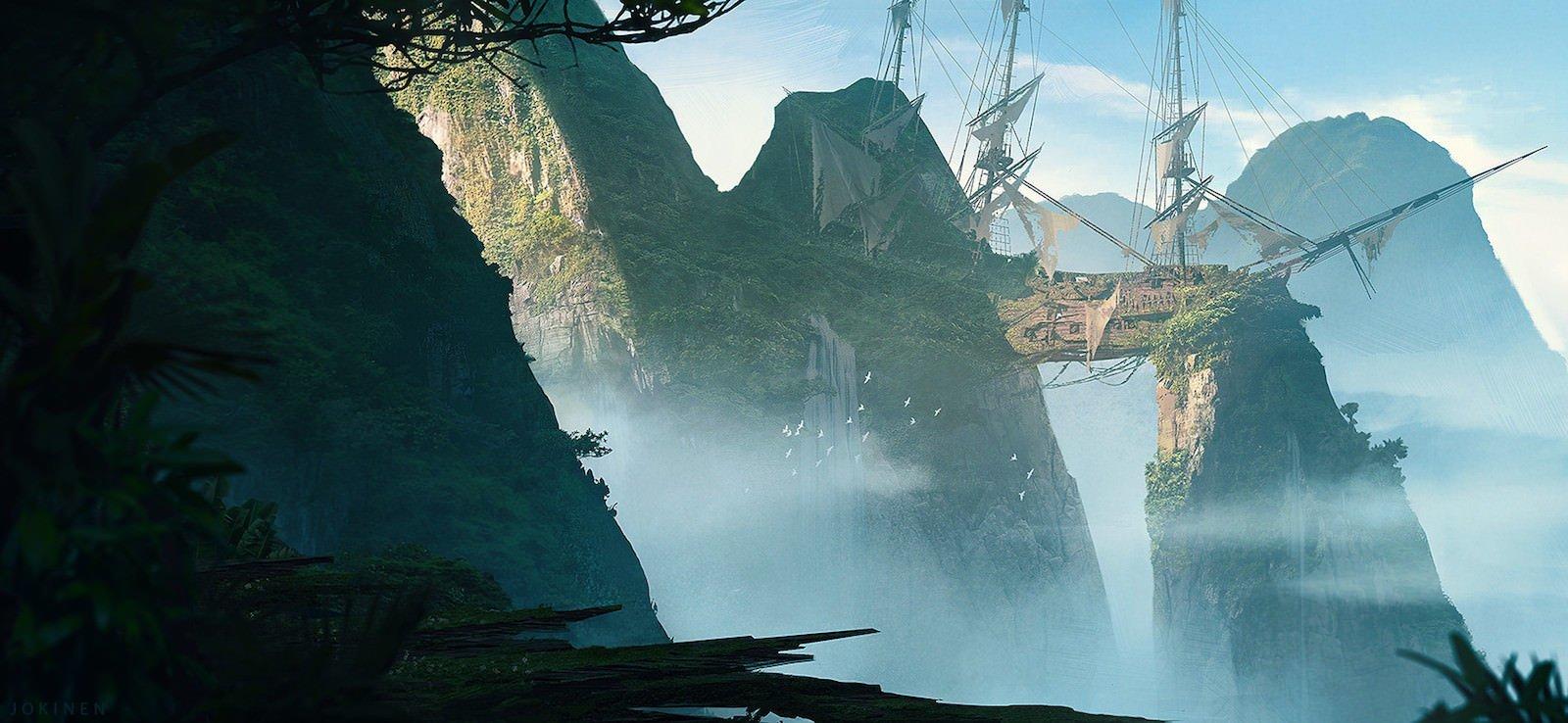 Shipwreck Valley искусство, картины, рисунки, юхани йокинен