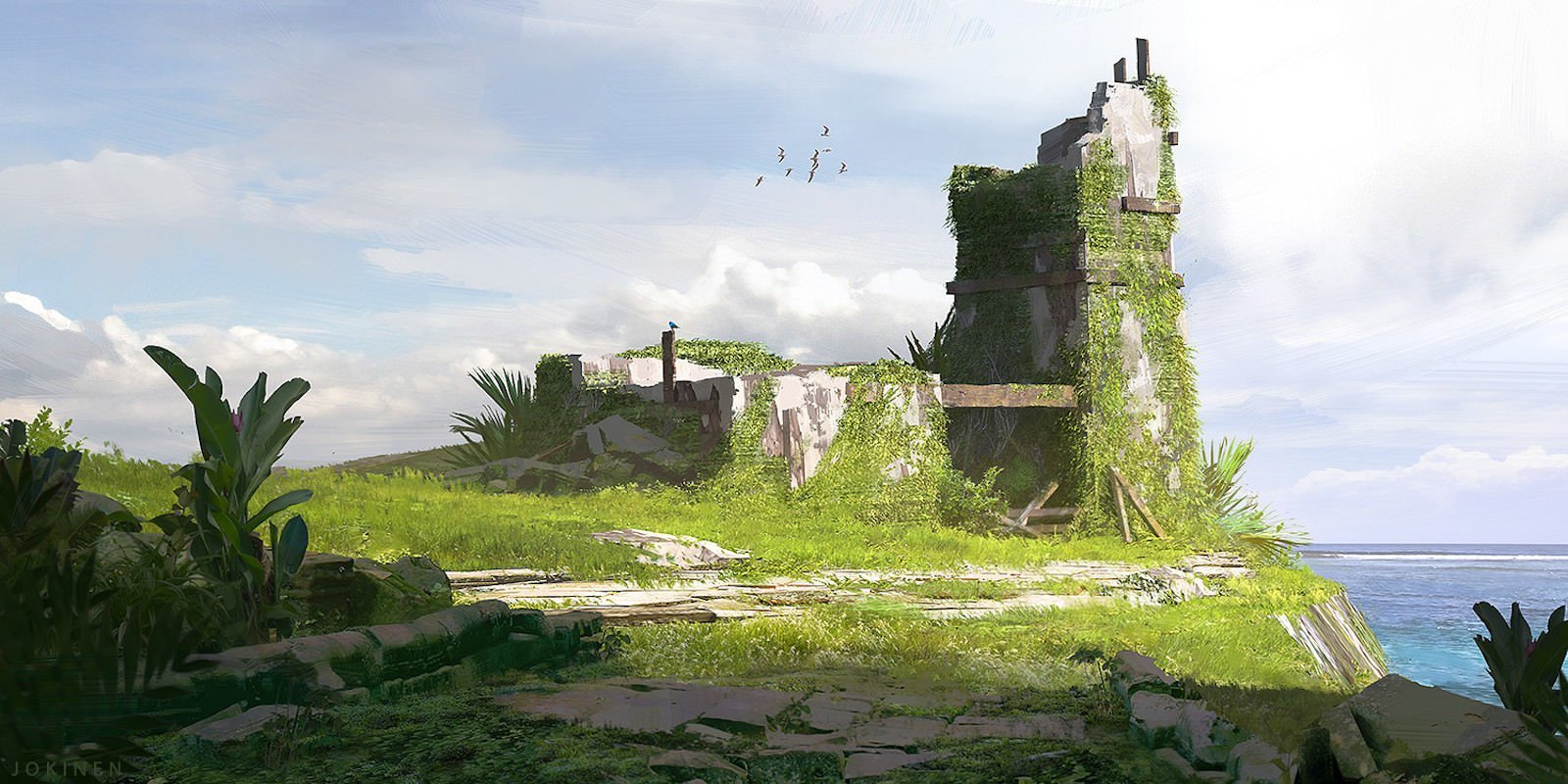 Watchtower искусство, картины, рисунки, юхани йокинен