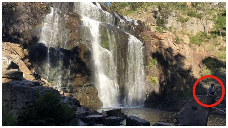 Трагедия на водопаде случайно попала на камеру австралия, будьте осторожны, водопад, гопро, случайность, трагедия, утонул