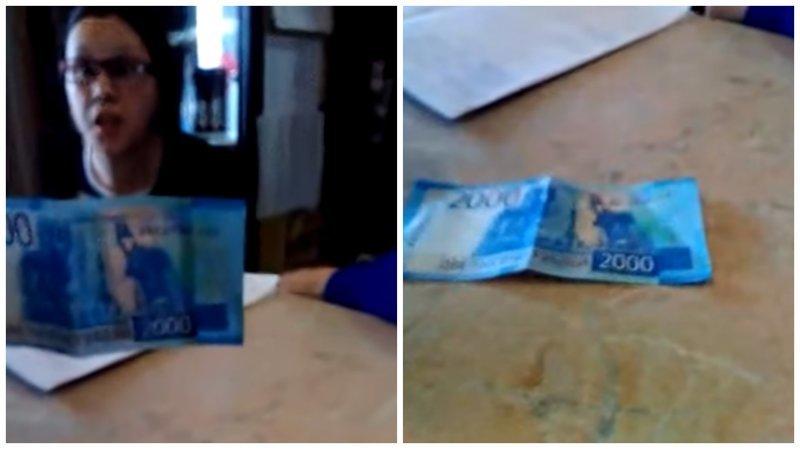 2000 купюра довела до истерики официантку $200, 2000, ynews, деньги, интересное, новые купюры