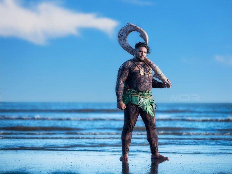 """""""Как только я увидел Мауи, решил, что обязательно буду его косплеить!"""" - пишет Джозеф Моана, косплей, мультики, мультфильм, пародия, своими руками, творчество, фото"""