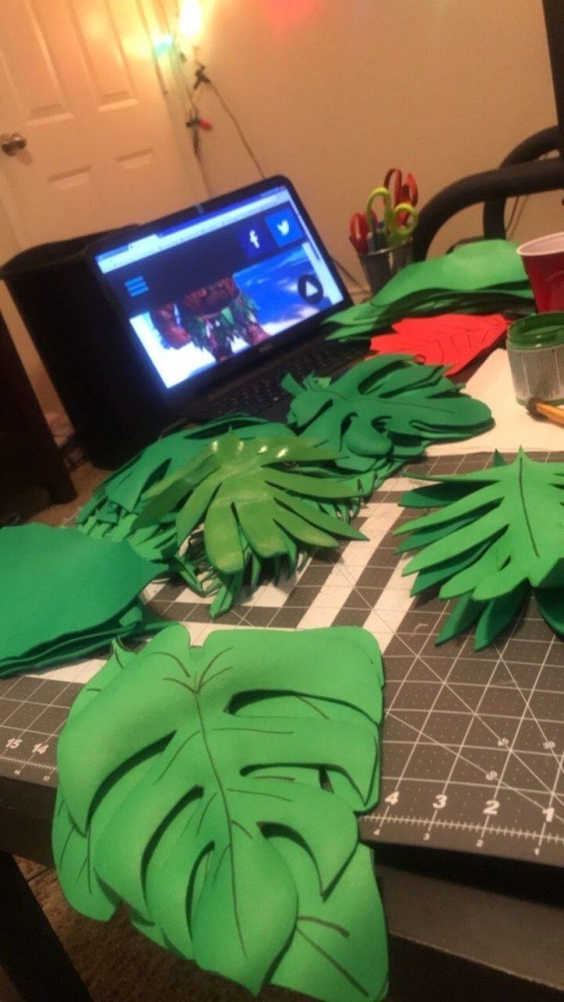 """""""Сам не ожидал, что у зеленого столько оттенков!"""" Моана, косплей, мультики, мультфильм, пародия, своими руками, творчество, фото"""
