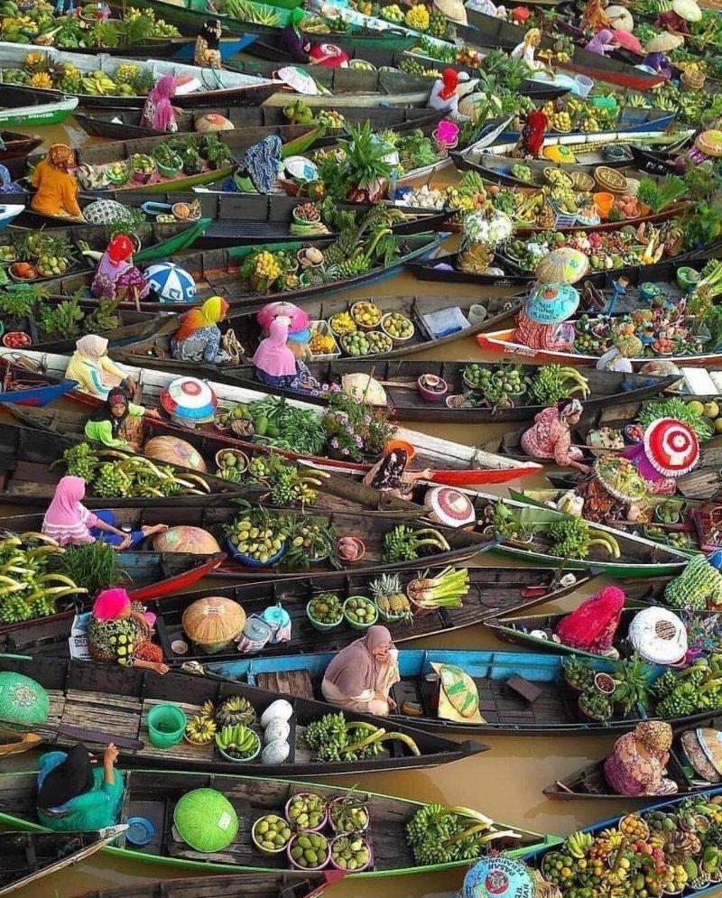 Речной рынок день, животные, кадр, люди, мир, снимок, фото, фотоподборка