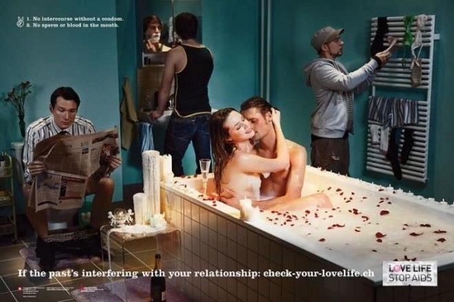 15 потрясающих шедевров рекламы безопасного секса безопасный секс, вич, презервативы, профилактика, реклама, спид
